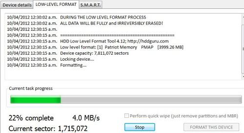 HDD low level format 2